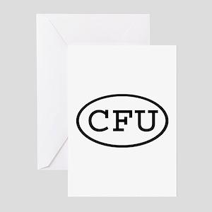CFU Oval Greeting Cards (Pk of 10)