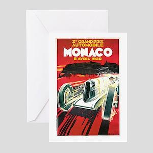Vintage 1930 Monaco Auto Race Greeting Cards (Pk o