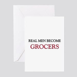 Real Men Become Grocers Greeting Cards (Pk of 10)