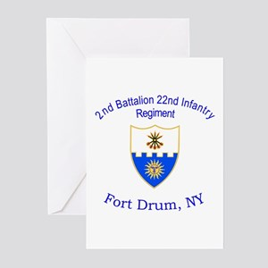 2nd Bn 22nd Inf Reg Greeting Cards (Pk of 10)