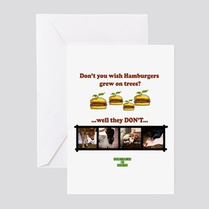 Don't you wish hamburgers gre Greeting Cards (Pack