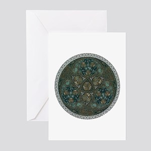 Celtic Trefoil Circle Greeting Cards (Package of