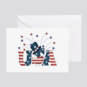 USA Fireworks Greeting Cards (Pk of 10)
