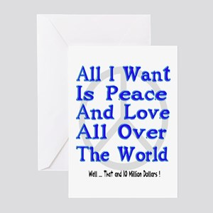 Peace, Love & Money Greeting Cards (Pk of 10)
