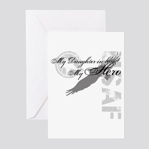 My Daughter-in-law My Hero USAF Greeting Cards (Pk