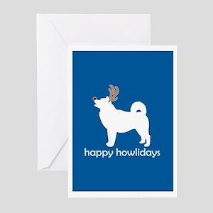 "Alaskan Malamute ""Happy Howli Greeting Cards (Pack"