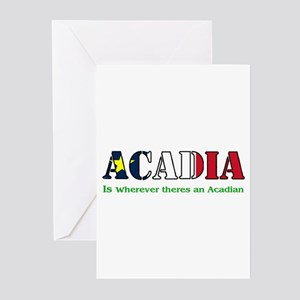 Acadia is where LARGE Greeting Cards (Pk of 10