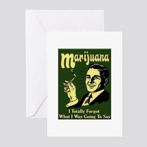Marijuana 3 Greeting Cards (Pk of 10)