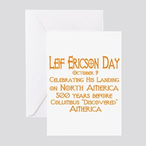 Leif Ericson Day Greeting Cards (Pk of 10)