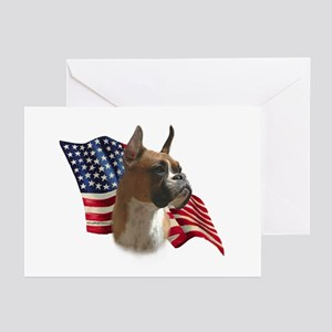 Boxer Flag Greeting Cards (Pk of 10)