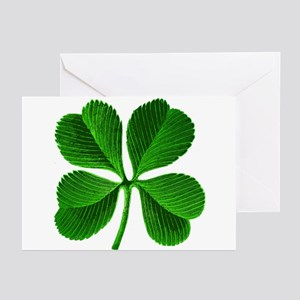 Lucky Charm 4-Leaf Clover Irish Greeting Cards (Pk