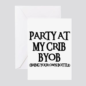PARTY AT MY CRIB Greeting Cards (Pk of 10)