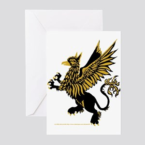 Gryphon Black Gold Greeting Cards (Pk of 10)