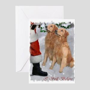 Golden Retriever Christmas Greeting Cards (Pk of 1