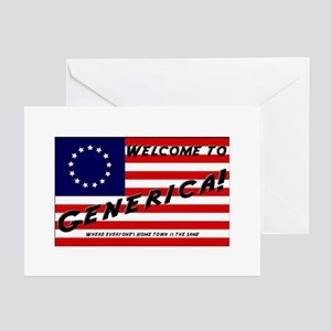 Generica USA Greeting Cards (Pk of 10)