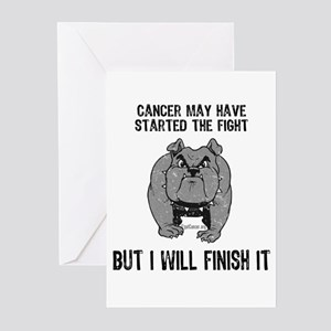 Cancer Started the Fight Greeting Cards (Pk of 10)