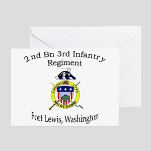 2nd Bn 3rd Infantry Regiment Greeting Cards (Pk of