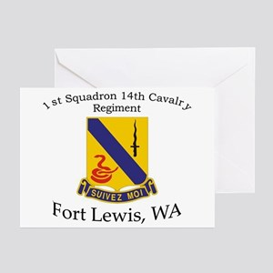 1st Squadron 14th Cavalry Greeting Cards (Pk of 10