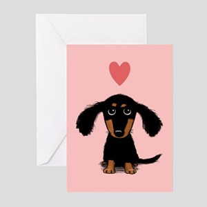 Dachshund Puppy Love Greeting Cards (Pk of 10)