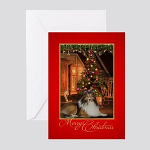 Sheltie Christmas Greeting Cards
