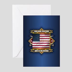 20th Maine (diamond) Greeting Cards
