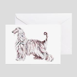 Afghan Hound Elegance Greeting Cards (Pk of 10