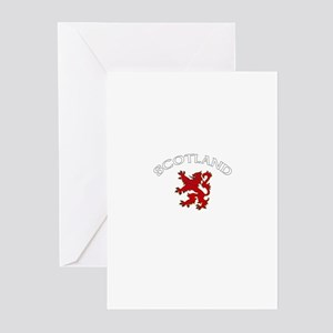 Scotland Lion (Dark) Greeting Cards (Pk of 10)