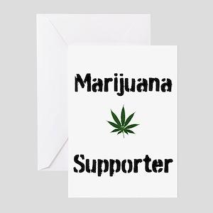 Marijuana Supporter Greeting Cards