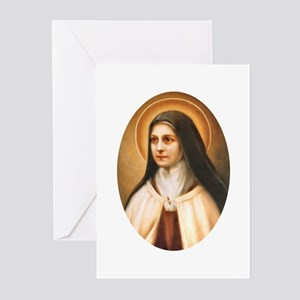 Saint Therese of Lisieux Greeting Cards (Package o