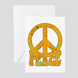 Retro Peace Greeting Cards (Pk of 10)