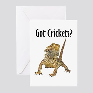 Bearded Dragon Got Crickets Greeting Cards (Packag