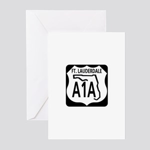 A1A Fort Lauderdale Greeting Cards (Pk of 10)