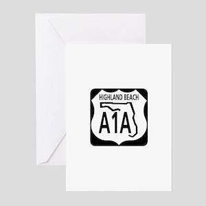 A1A Highland Beach Greeting Cards (Pk of 10)