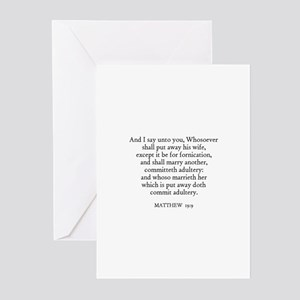 MATTHEW  19:9 Greeting Cards (Pk of 10)