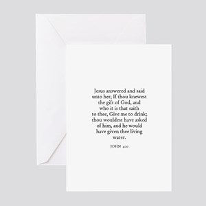 JOHN  4:10 Greeting Cards (Pk of 10)