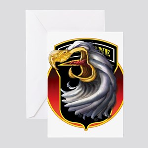 Screamin' Eagles Badge Greeting Cards (Package of