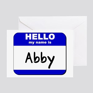 hello my name is abby  Greeting Cards (Package of