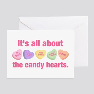 Candy Hearts II Greeting Cards (Pk of 10)