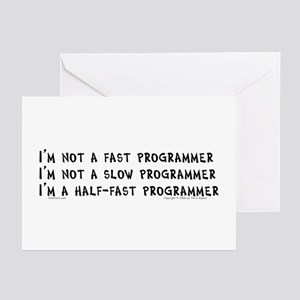 Fast Programmer... Greeting Cards (Pk of 10)