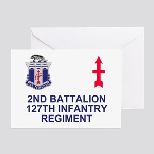 127th Infantry <BR>6 Greeting Cards
