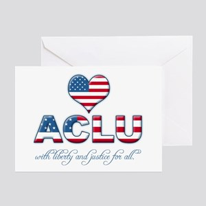 I <3 ACLU Greeting Cards (Pk of 10)