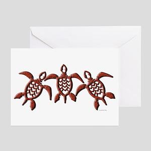 Tribal Sea Turtles Greeting Cards (Pk of 10)