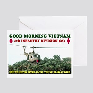 5th INFANTRY DIV VIETNAM Greeting Cards (Pk of 10)