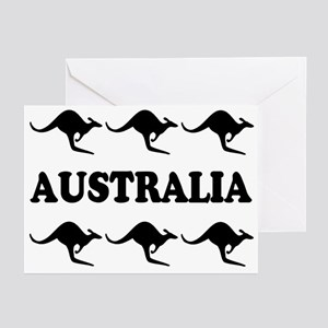 Kangaroos Australia Greeting Cards (Pk of 10)