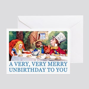 A VERY MERRY UNBIRTHDAY Greeting Cards (Pk of 10)