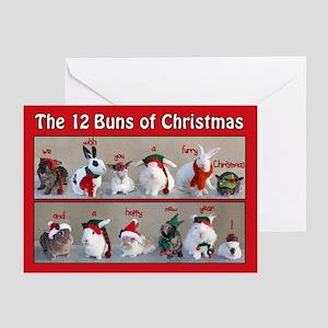 Twelve Buns Of Christmas Greeting Cards (Pk Of 10)