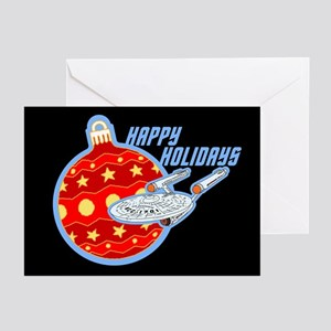 Star Trek Enterprise Christmas Bauble Greeting Car