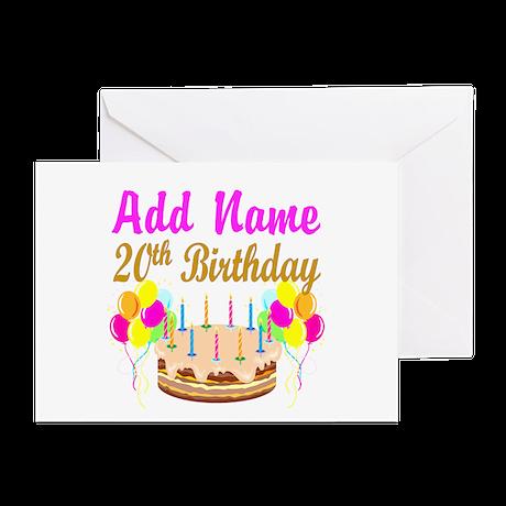 HAPPY 20TH BIRTHDAY Greeting Cards Pk Of 10 By Jlporiginals