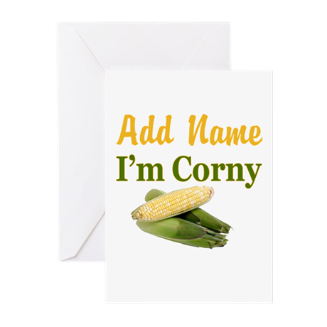 I LOVE CORN Greeting Cards (Pk of 10)