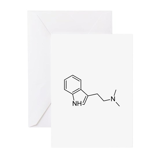 dmt1 greeting cards pk of 10 dmt chemical structure